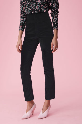 Velveteen Pant in Black