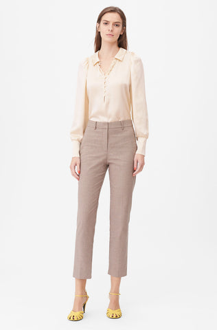 Tailored Houndstooth Suiting Pant in Toffee Combo