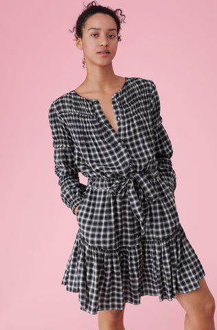 La Vie Plaid Dress in Black Combo