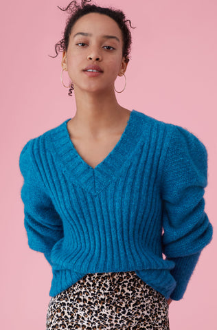 Lofty Alpaca Pullover in Teal