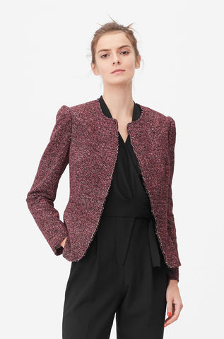 Tailored Knit Tweed Jacket in Sunset Combo