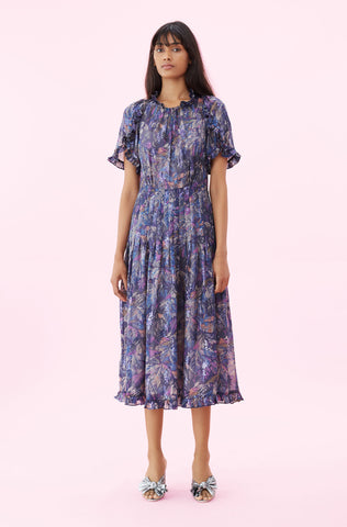 Giverney Fleur Dress in Amethyst Combo
