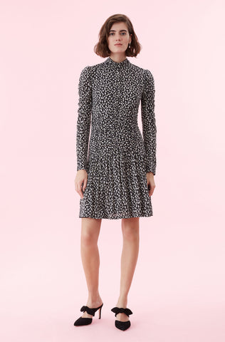 Mini Cheetah Jersey Dress in Black Combo
