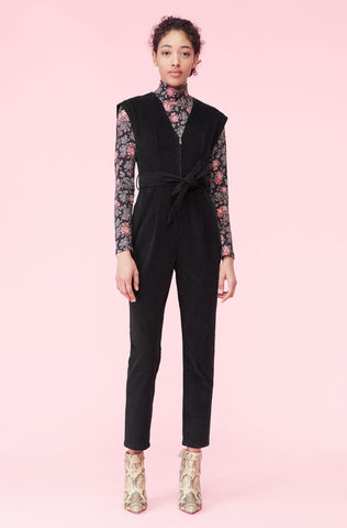 La Vie Stretch Plush Jumpsuit in Black