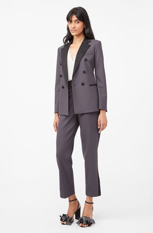 Tailored Gabardine Suiting Pant in Graphite