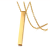 Personalized Gold Plated Bar Necklace