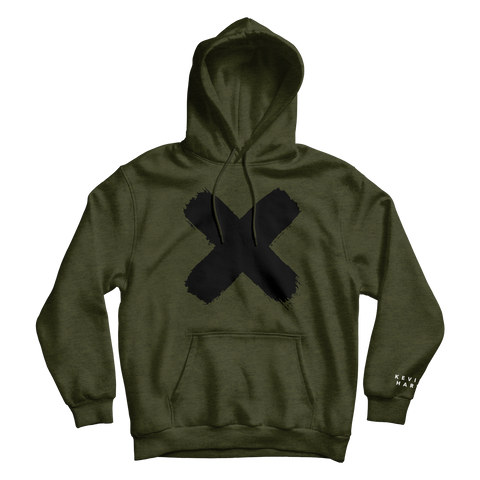 X ARMY GREEN HOODIE