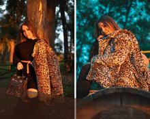Load image into Gallery viewer, multicolor-leopard-print-stand-collar-coat.jpg