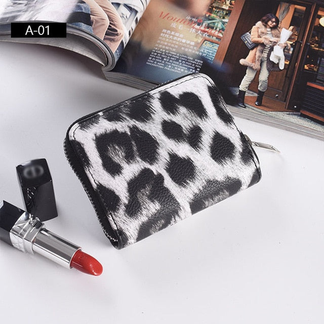 Women's PU Leather Leopard Prints Short Wallets