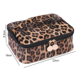 Leopard Print PU Multifunctional Waterproof Bag