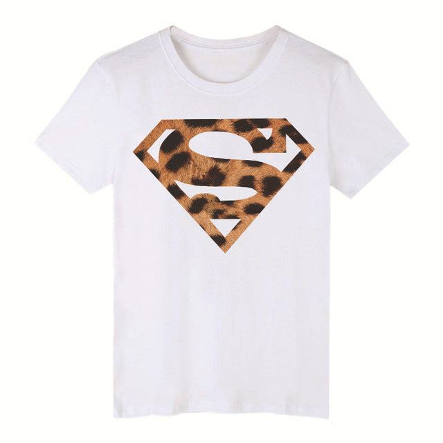 Casual Leopard High-heeled Printed Graphic Tees