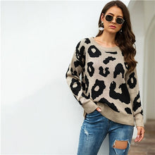 Load image into Gallery viewer, Winter Casual Leopard Print Sweater