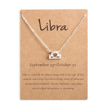 Load image into Gallery viewer, Zodiac Sign Gold Pendant Necklace