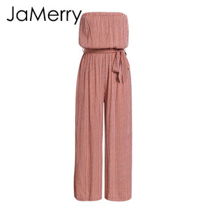 Women's Sashes Long Jumpsuit