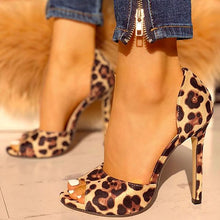 Load image into Gallery viewer, Women's Leopard Print Pumps High Heels