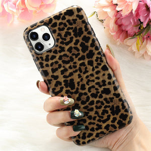Slim Rubber Soft Protective Leopard Phone Cover