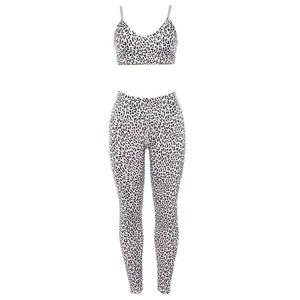 Women's Leopard Printing Yoga Set