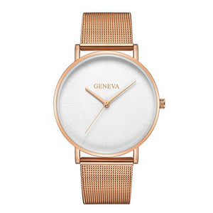 Women's Mesh Belt Rose Gold Watch