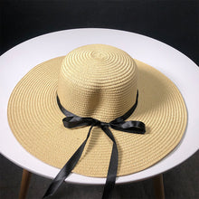 Load image into Gallery viewer, Bow-Straw-Hat-Sun-Hats.jpg