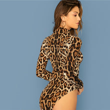 Load image into Gallery viewer, Leopard Print Skinny Elegant Bodysuit