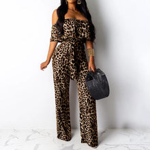Load image into Gallery viewer, Women's Leopard Print Elegant Rompers