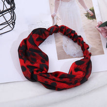 Load image into Gallery viewer, Women's Leopard Elastic Cross Knot Hairband