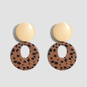 Round Resin Dangle Drop Earrings