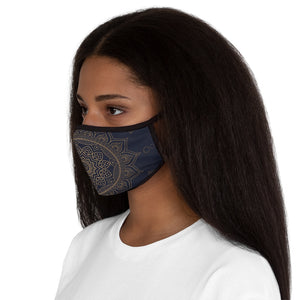 Mandala Fitted Polyester Face Mask