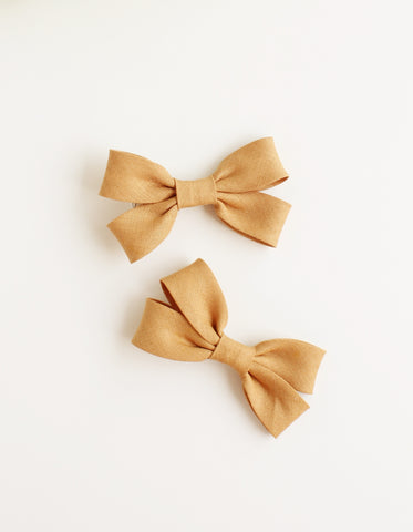 cotton hair clip for girls mocha