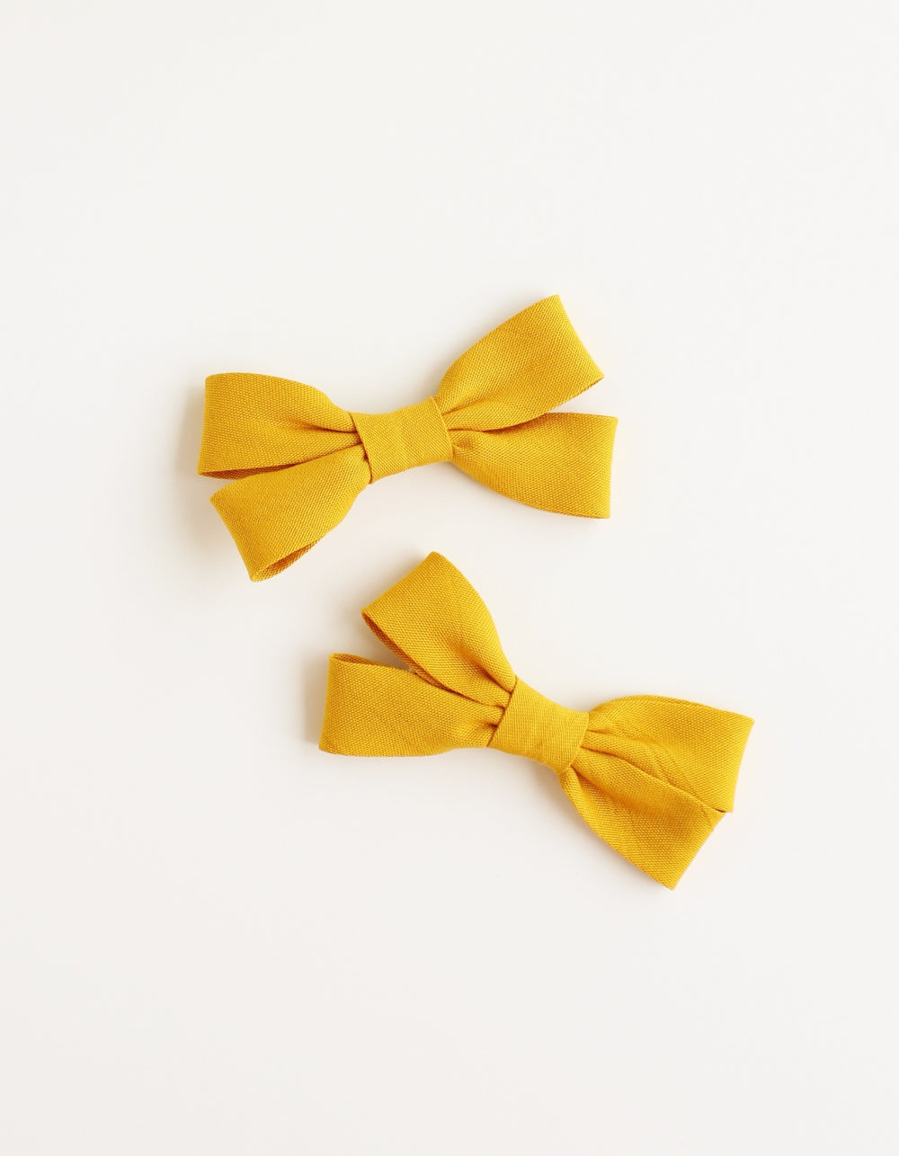 cotton hair clip for girls mustard
