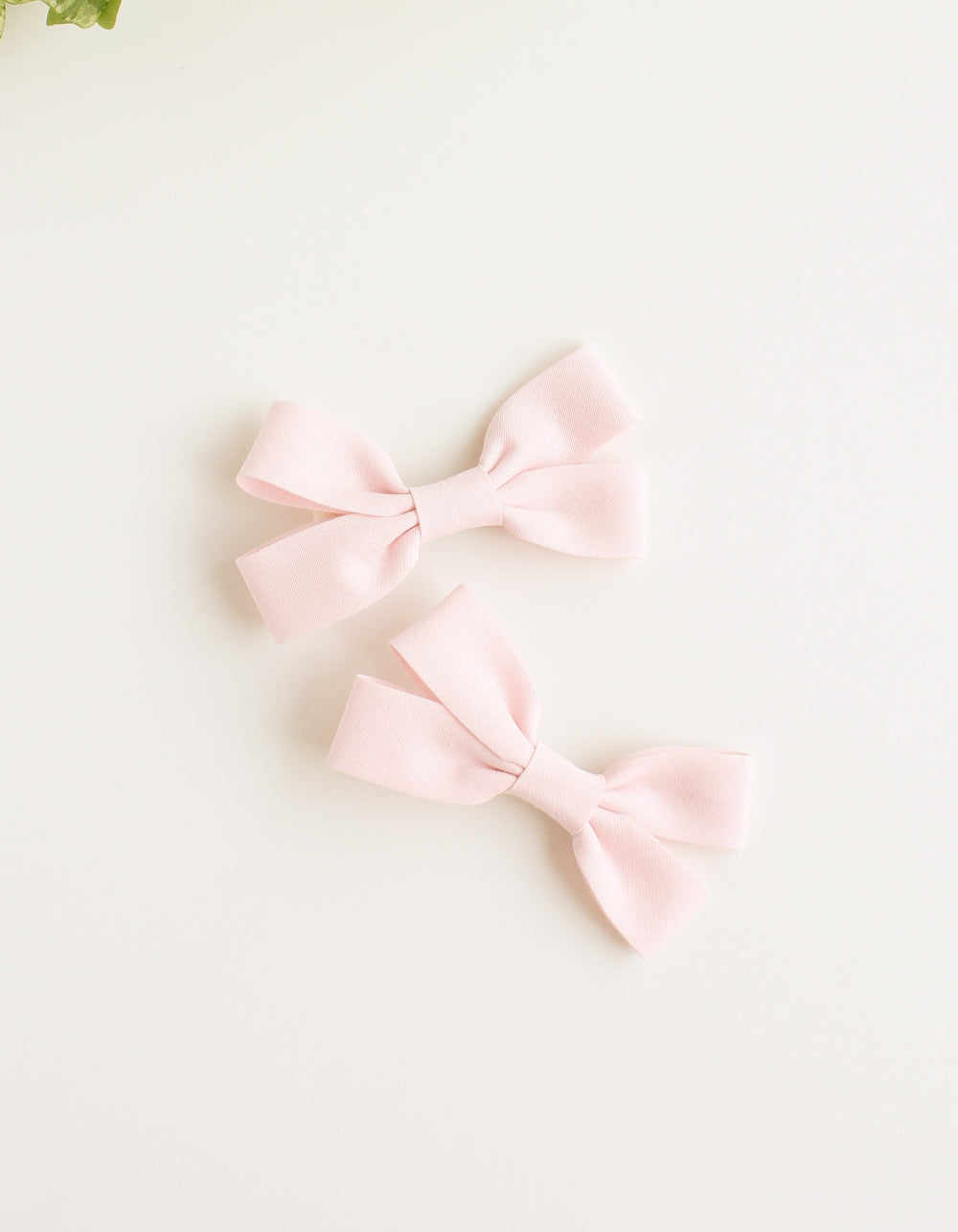 cotton hair clip for girls baby pink