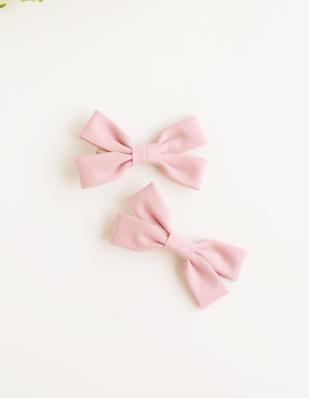 cotton hair clip for girls vintage pink