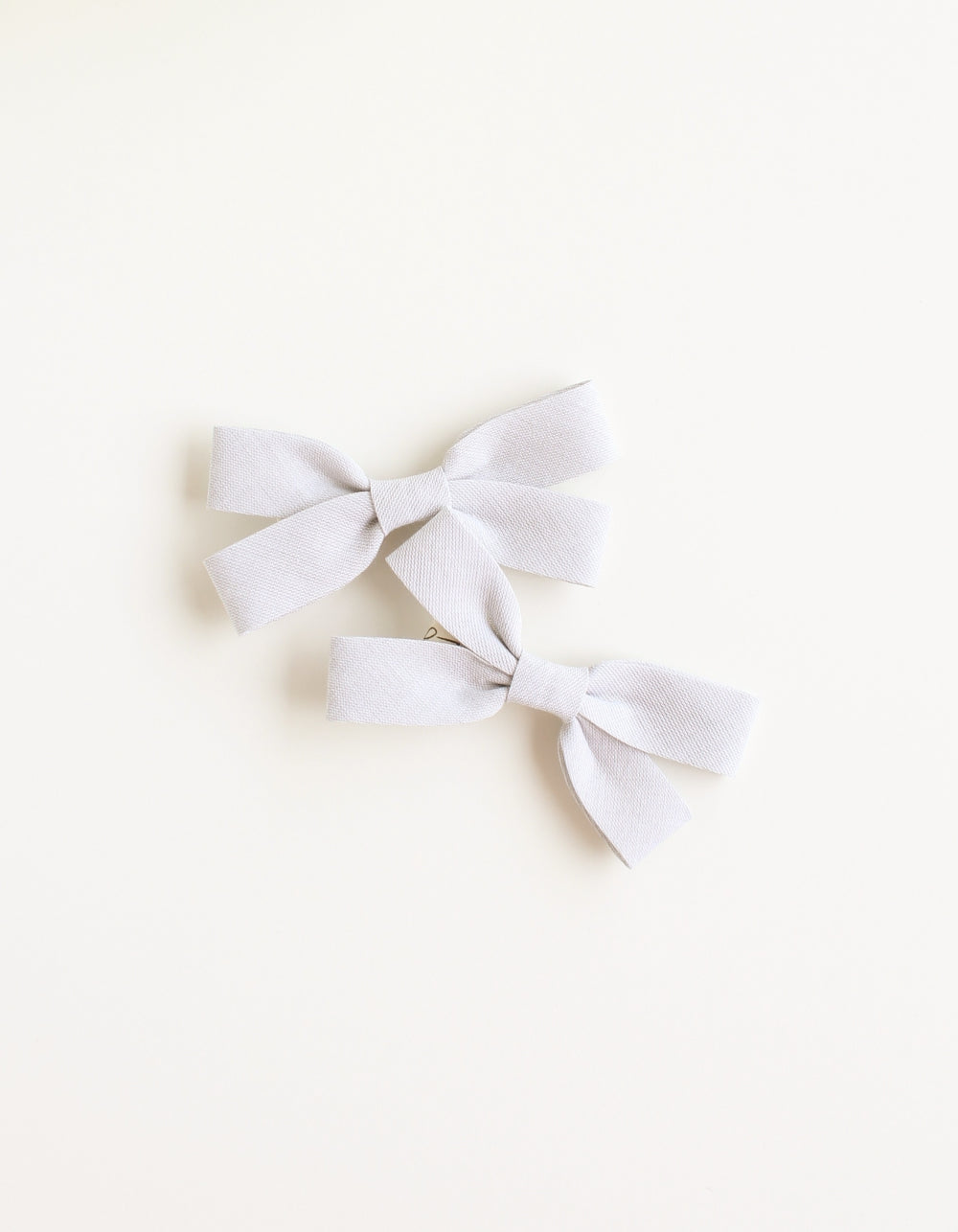 cotton hair clip for girls grey