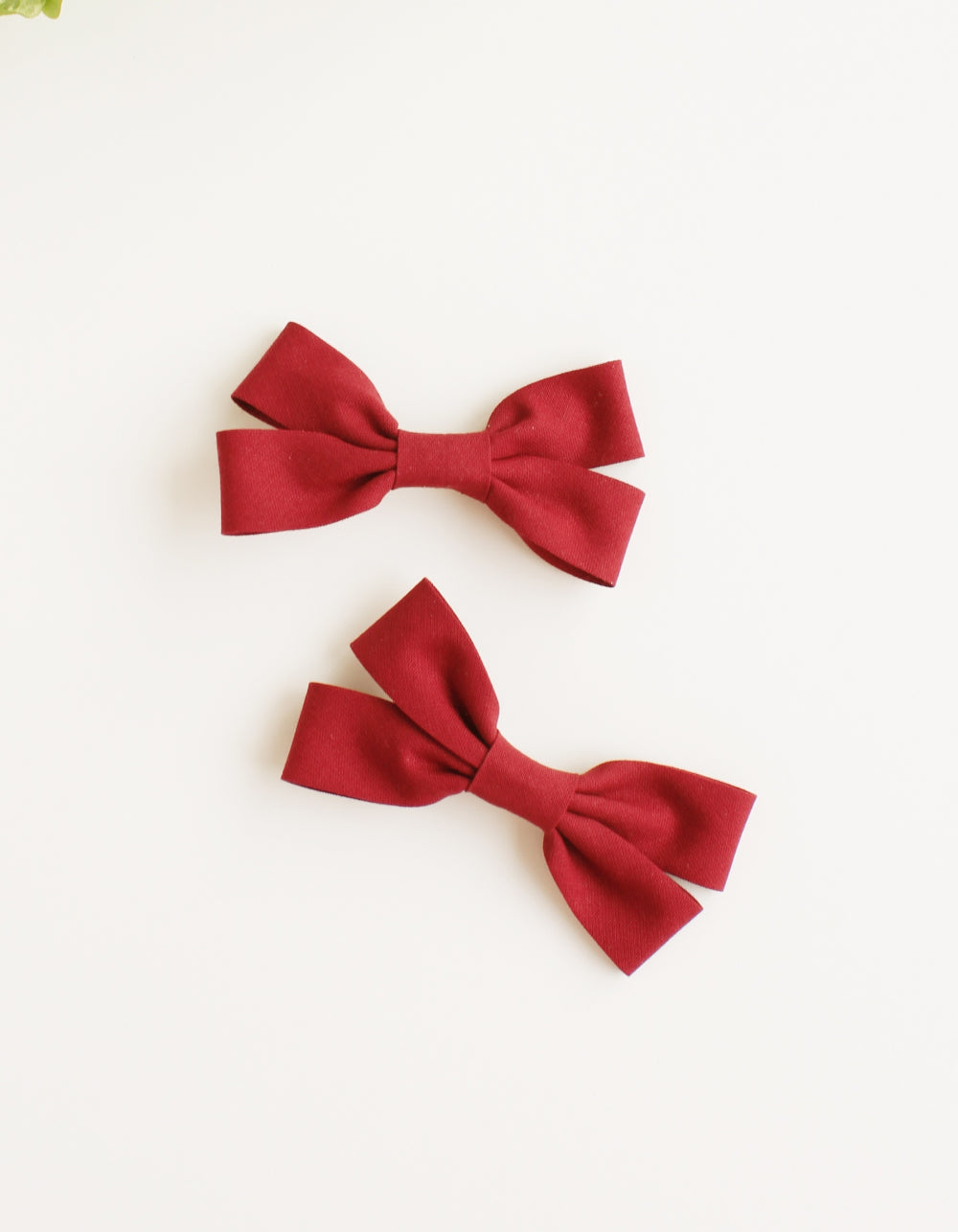 cotton hair clip for girls wine
