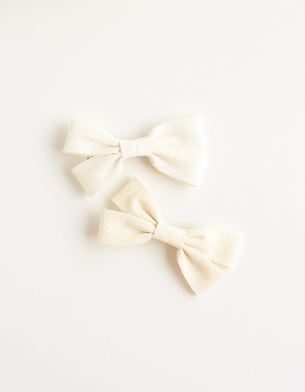 cotton hair clip for girls ivory