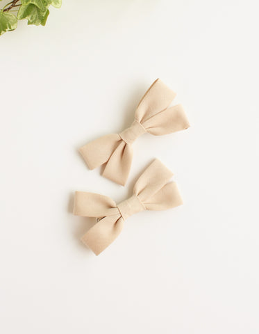 cotton hair clip for girls vanilla