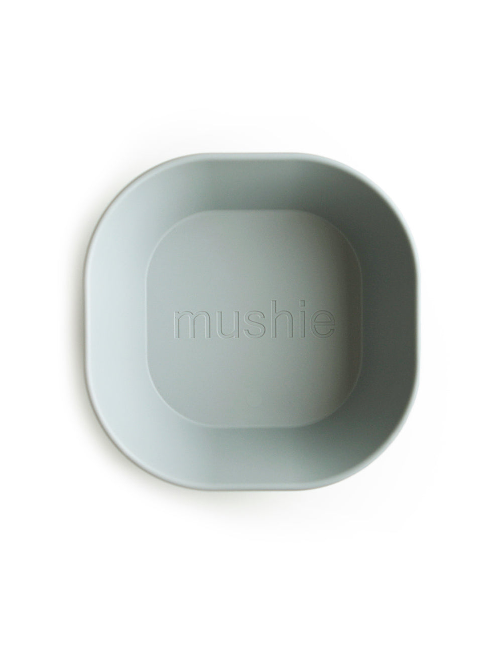 mushie square dinnerware bowl sage