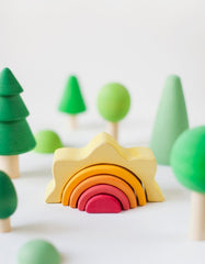 Raduga Grez wooden sun stacking toy