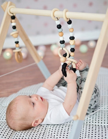 wooden baby gym toys