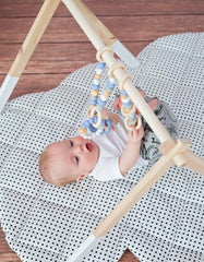 wooden activity set for a baby boy