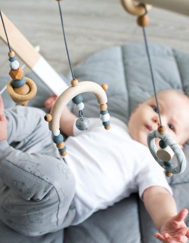 Scandinavian baby gym toys marble