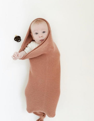 knitted merino wool baby cocoon