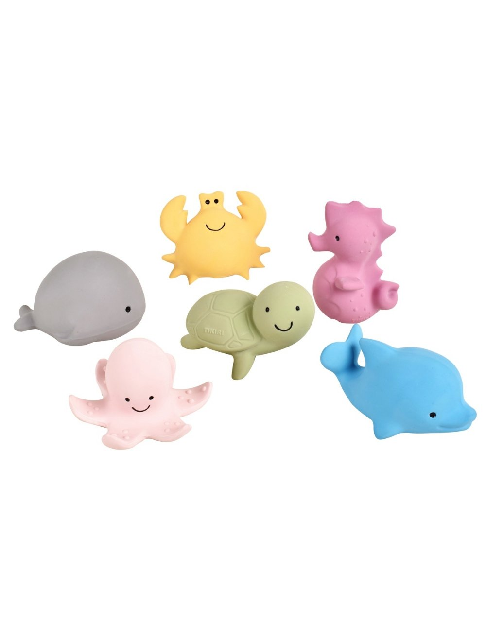 tikiri natural rubber toys ocean collection