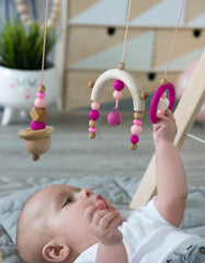 Minimalist nursery decor fuchsia