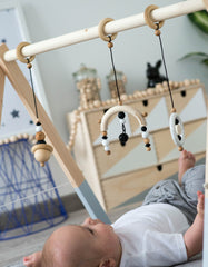 Scandinavian baby gym toys gritty