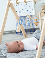 wooden baby activity gym blue