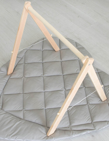 collapsible wooden baby gym frame