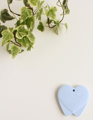 silicone teething toy TOOTH for baby blue