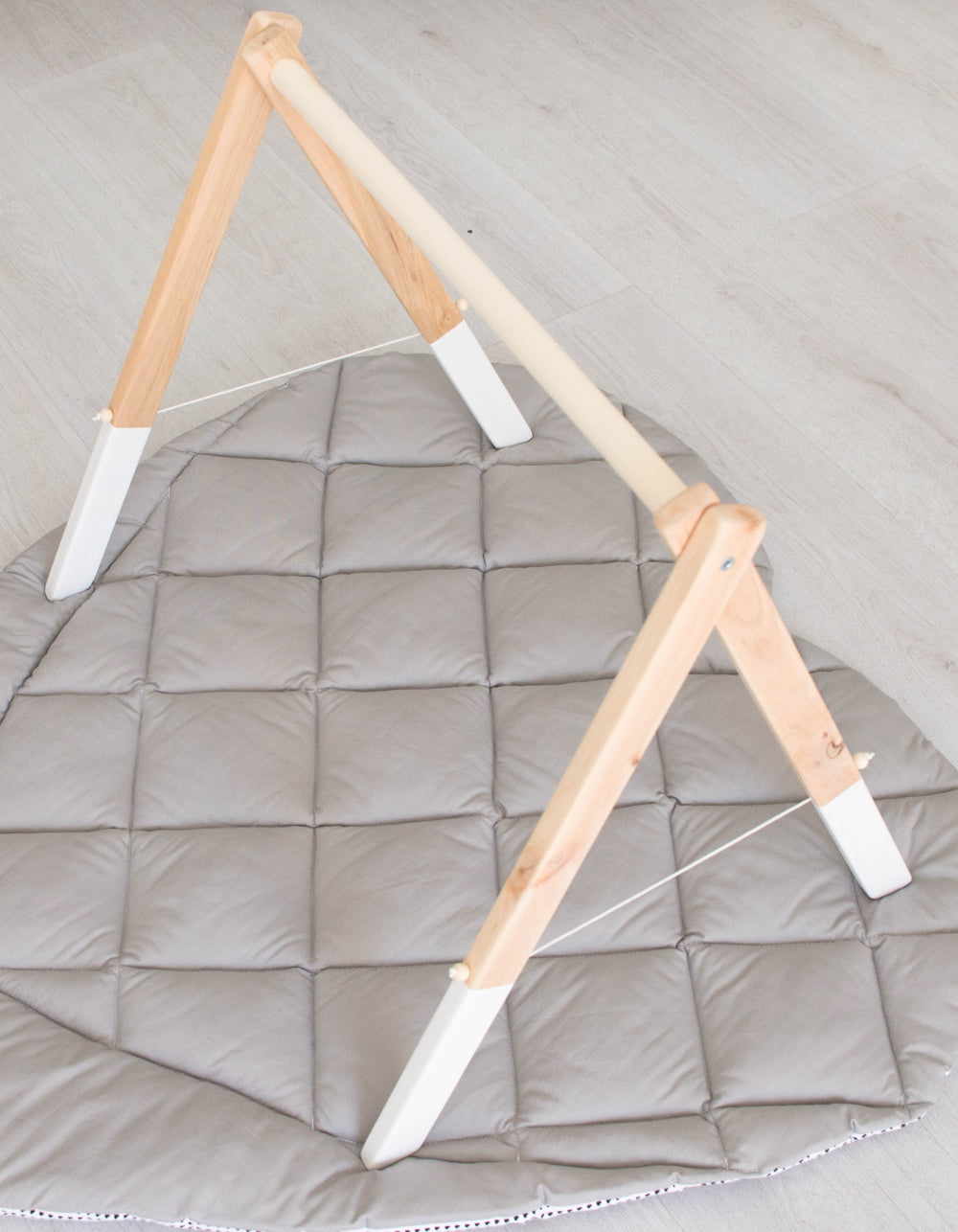 wooden baby gym frame