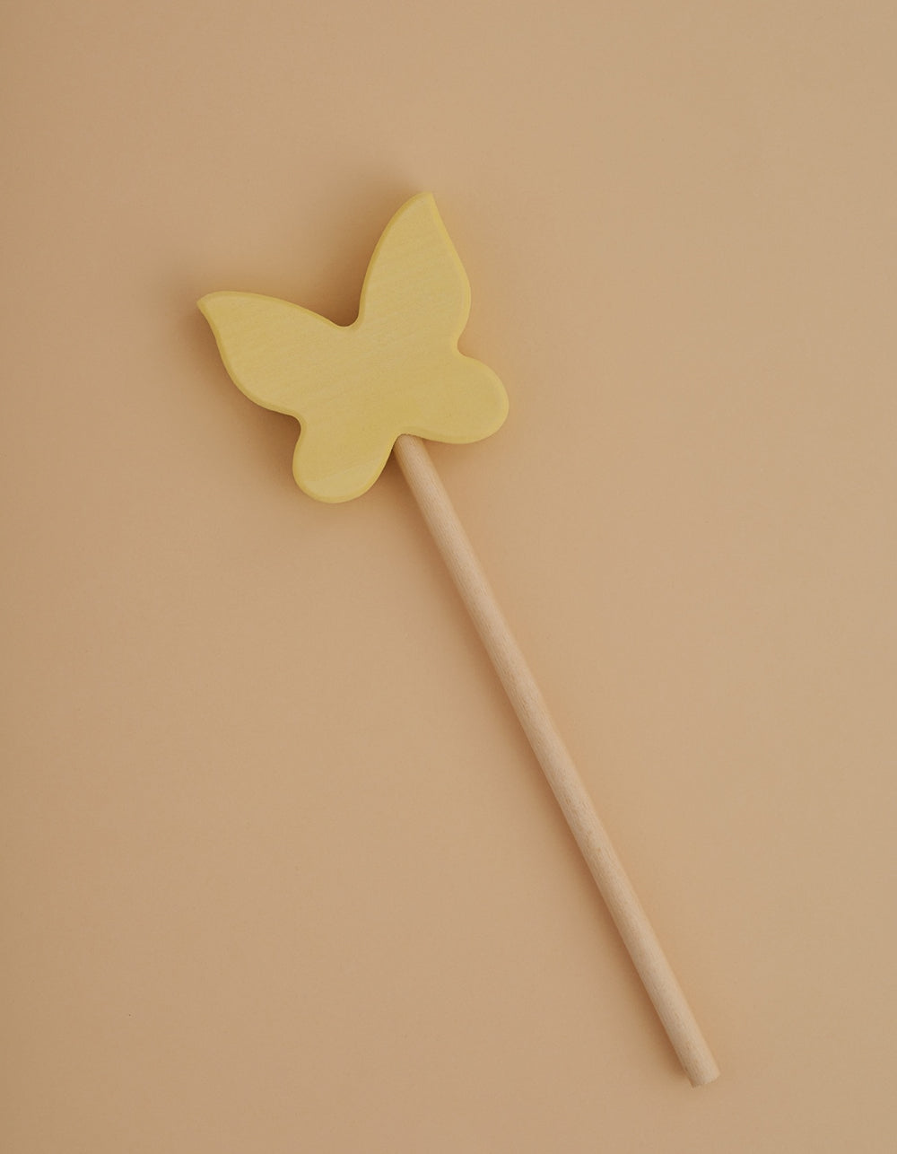 Magic wooden wand Yellow Butterfly